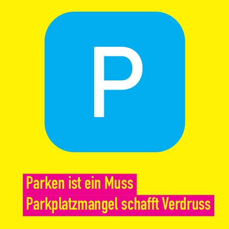 Parken ist ein Muss